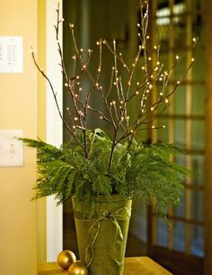 Winter Branch Lights, Battery-Operated