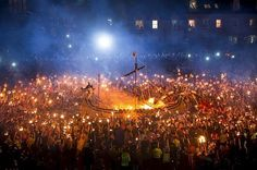 Scotland: This spectacular Viking-themed fire festival is held in January every year to mark the end of the yule period. Thousands of people throng the streets of Lerwick holding burning torches before setting fire to a full-scale replica of a Viking ship. It's a truly once-in-a-lifetime sight.