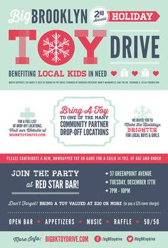 Big Brooklyn Holiday Toy Drive Poster