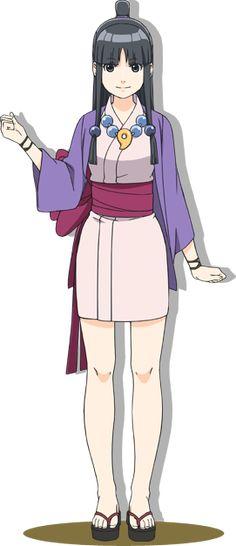 Maya Fey, uno de los personajes principales en el anime Ace Attorney