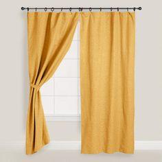 Yellow Canvas Ring Top Jaya Curtains, Set of 2 | World Market