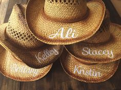 PERSONALIZED COWGIRL HATS / Bachelorette by SouthernEverAfter