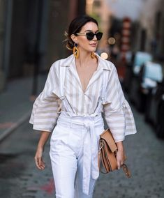 New post on the blog, with all the looks I wore this weekend in NY #ootd #mylook #getthelook #wearitloveit #lookoftheday #nyfw #tome #white #stripes #nyfwootd