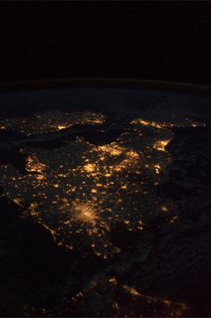 British Isles at night from the International Space Station