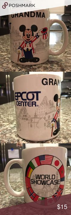 Disney Mickey Mouse Grandma coffee cup mug Disney Mickie Mouse Grandma coffee mug.  Epcot Center.  World Showcase.  Great condition.  No cracks or chips. Disney Other