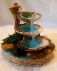 Seashell Crafts, Beach Crafts, Diy Home Crafts, Diy Arts And Crafts, Cute Crafts, Seashell Decorations, Fairy Crafts, Garden Crafts, Seashell Painting
