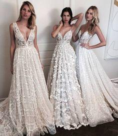 Vestidos de festa brancos com tule e renda. Pinterest: @giovana