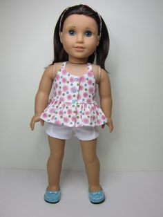 American girl doll clothes  Pretty flowered by JazzyDollDuds
