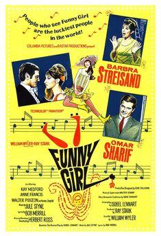 Barbara Streisand Funny Girl Movie Musical Poster by jangoArts