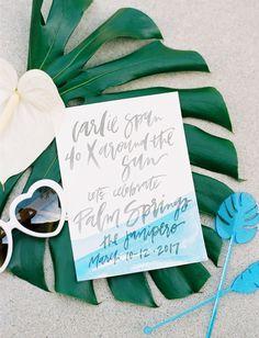 Palm Springs Birthday Invitation