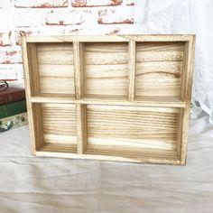 Light Wood Shadow Box Dovetail w/ brass corners Natural Curio Cabinet cubby Boho bohemian Drawer organizer display wall hanging by WonderCabinetArts