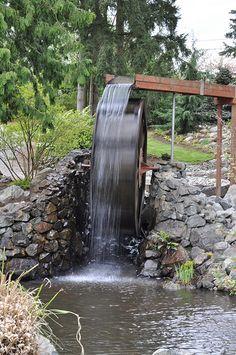 water wheel fountain.. just beacause