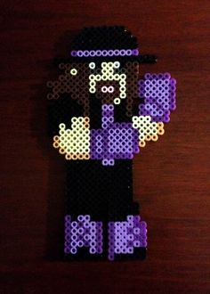 WWE Inspired Wrestling 8 Bit Perler Collection - The Undertaker via eb.perler. Click on the image to see more!