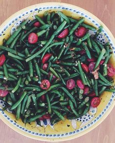 Happy Labor Day Weekend! We are enjoying ours with friends & family - plus with this delicious green bean and tomato salad with balsamic vinaigrette