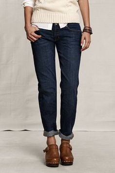 Great Dark Boyfriend Jeans - Lands End less then $15 / limited sizes left but great deal.