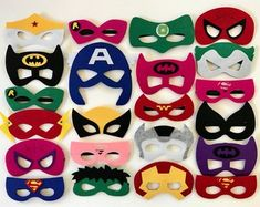 Superhero Masks, Superhero Party Supplies, Superhero Party, Batman Party, Superhero Birthday, Superhero Party Favors, Superhero