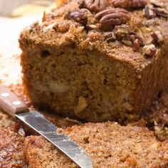 A Very tasty recipe for maple pecan bread. Delicious served warm with butter.. Maple Pecan Bread Recipe from Grandmothers Kitchen.