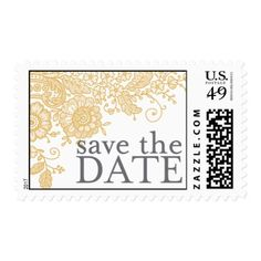 Vitnage Lace - Save the Date Postage