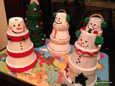 Christmas flower pot crafts