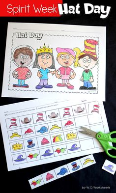 Hat Day Activities for Spirit Week at school. Perfect for Kindergarten and First Grade.
