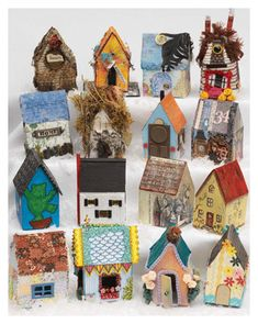 Home is where the heart is! Make a homage to your home with these Mixed-Media Art Houses.