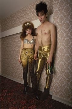 the cramps old punk rock photo band music vintage fashion style rock n roll era gold glam pants black boots spandex cheetah print silver beaded bra top historic era looks The Cramps, Music Icon, My Music, Music Life, Madonna, Billy Holiday, It Icons, Style Icons, Grunge