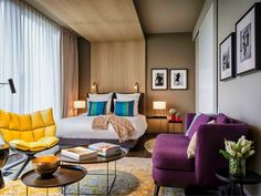 13 Coolest Hotels in Berlin | Hand-picked Guide 2020 Design Hotel, Small Room Bedroom, Small Rooms, Master Bedroom, Boutique Hotel Bedroom, Boutique Hotels, Modern Hotel Room, Hotel Berlin, Room Interior