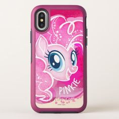 My Little Pony   Pinkie Pie Watercolor OtterBox Symmetry iPhone X Case - watercolor gifts style unique ideas diy