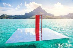 Unexpected Furniture Mirror Setting in Polynesia