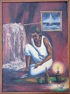 Art of Haiti - Edouard King Fong Wah Haitian Art, Caribbean Art, Latin America, King, Culture, Painting, Black, Black People, Painting Art