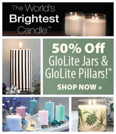 Black Friday starts NOW! Take 50% off PartyLite GloLite Pillars and GloLite Jar Candles through 11/25/14 SHOP HERE: http://bit.ly/JarsAndPillars
