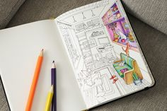 Cats when they're home alone  - Adult coloring pages by ColoringNotebook. Paper journal with coloring pages for adults. Tags: #cats, sofa, #adult #coloring #pages.