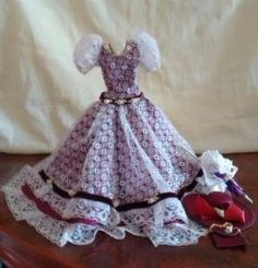 Vestido para Barbie - de Época