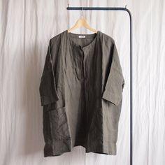 jujudhau - Pocket Jacket #linen khaki
