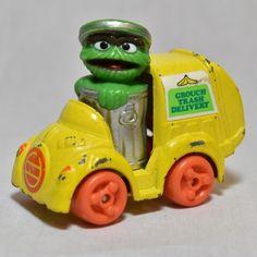 Oscar the Grouch Sesame Street Playschool1982 Diecast car