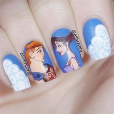 Disney Princesses Nail Art Ideas 7