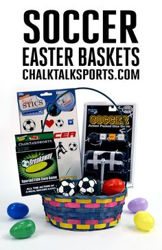 Easter is less than two weeks away! Surprise your favorite soccer player with an Easter basket filled with hand-picked soccer goodies from ChalkTalkSPORTS.com! Your athlete will love this basket that includes comfy soccer apparel, our soccer SportsSTICS reusable stickers, games, and more!