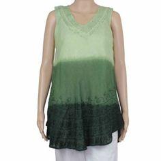 Tunique vert Tie & Dye - Mode femme - Vêtement d'été tissé artisanalement: Amazon.fr: Vêtements et accessoires