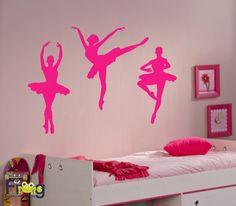 Adesivo de parede Bailarinas www.frogadesivos.com.br