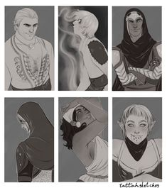 """tattahsketches: """"Funny how all my favorite Dragon Age characters are rogues… """""""