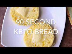 90 Second Bread, Keto & Low Carb, Recipe + VIDEO | Healthy Recipes