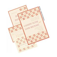 This 60's mod-retro-meets-contemporary-luxurious letterpress stock invitation features Swarovski crystals, a matching layered response with pattern-printed return envelope and understated reception card. | DBY invitations   #wedding #fashion