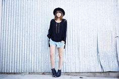 fedora hat with tomboy chic outfit