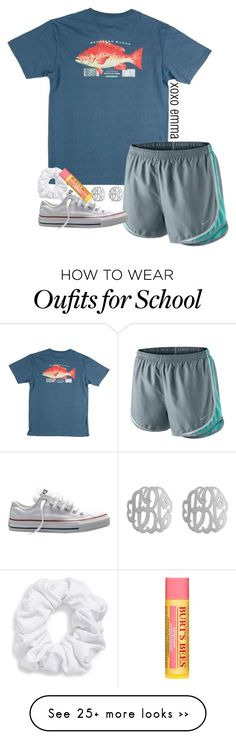 """school tmrw"" by econgdon on Polyvore featuring NIKE, Converse, Initial Reaction, Natasha Couture and Burt's Bees"
