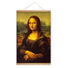 Da Vinci Mona Lisa Smile Decoration Wall Art Pictures Canvas Wooden Scroll Paintings For Living Room Ready To Hang  1.Type: Printed 2.Screen Size:15.75x23.62inch (40x60cm) 3.Package: Carton Box 4.Wall Hanging: Ready to hang. Perfect wall decoration for living room and bed room. 5.Material: High quality canvas and environmental waterproof ink. Using quality waterproof wood pipe, ready to hang.