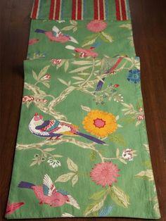 Bird Printed Table Runner - Forest