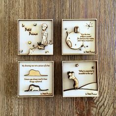 Wood Engraved Magnet set – The Little Prince – multi-layered / Le Petit Prince / Wood carving Wood laser cutting and engraving The Little Prince Magnet Set 3d Laser, Laser Cut Wood, Laser Cutting, Laser Cutter Ideas, Laser Cutter Projects, Lazer Cutter, Wood Crafts, Diy And Crafts, Glass Wall Art