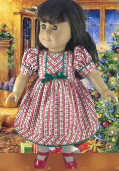 American Girl and Waldorf Christmas Dress by mybonbonboutique, $25.00