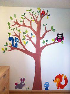 Muurschildering in kinderkamer door Tinke. Meer info? --> tinke.s@live.be