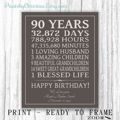 Image result for 90th birthday ideas for gifts for dad